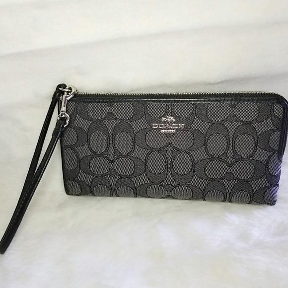 Coach Handbags - Coach Logo Cloth Zippered Wallet/Wristlet